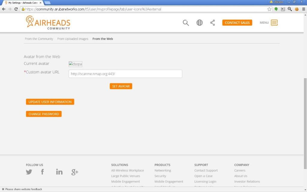 ArubaNetworks Avatar Image XSPA