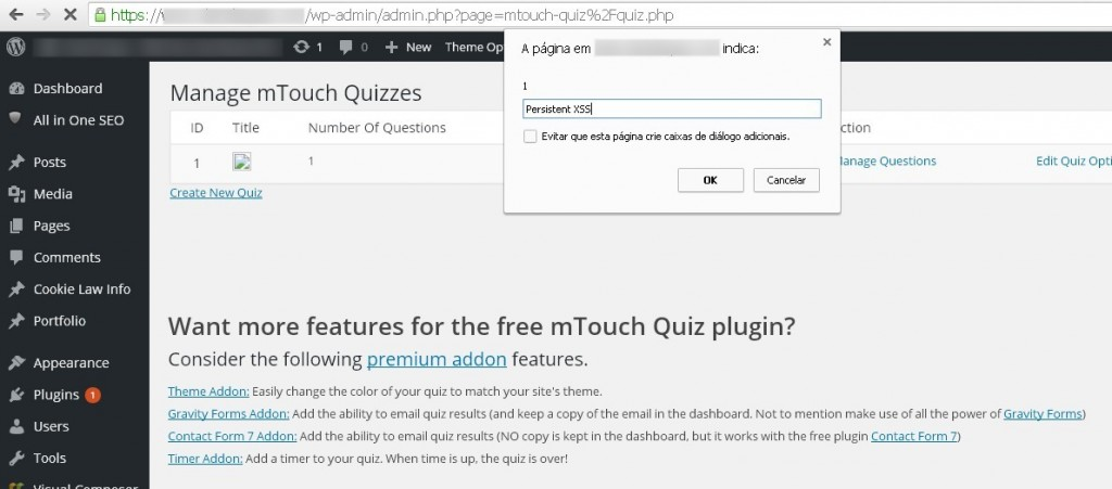 Multiple vulns on mTouch Quiz WordPress plugin